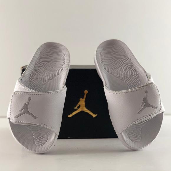 b97a545fc3a40 Jordan Shoes | Hydro 6 Bp Whitepure Platinum Sandals | Poshmark